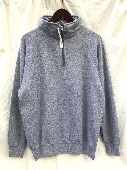 VESTI Half Zip Sweat Shirt Made in Italy Grey
