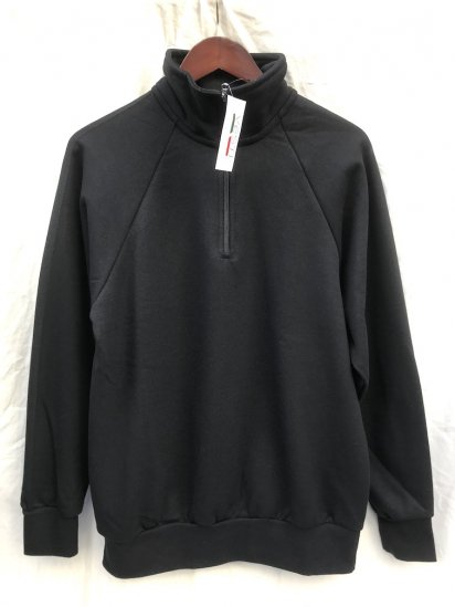 VESTI Half Zip Sweat Shirt Made in Italy Black