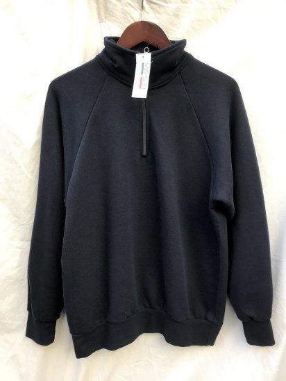 VESTI Half Zip Sweat Shirt Made in Italy Navy