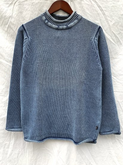 Original Blues Indigo Knit Roll Neck Made in England W.IND<BR>SALE! 23,000 + Tax → 16,000 + Tax