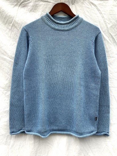 Original Blues Indigo Knit Roll Neck Made in England L.IND<BR>SALE! 23,000 + Tax → 16,000 + Tax