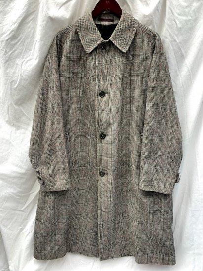 "80's Vintage Aquascutum One Panel Sleeve ""Pure Wool Saxsony"" Balmacaan Coat MADE IN ENGLAND"