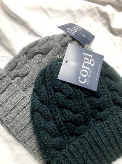 Corgi 100% Cashmere Knit Cap Made In Wales UK