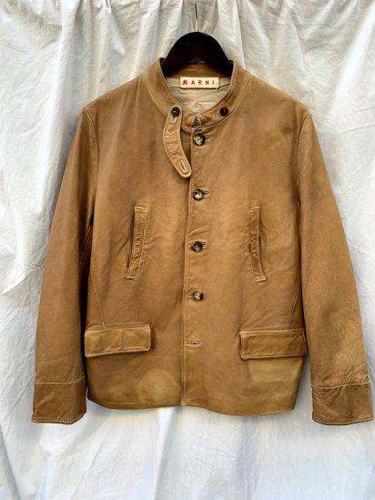 MARNI Sheep Skin Leather Jacket USED