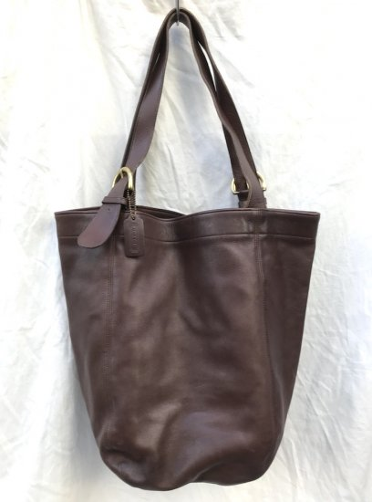 80's Vintage Old COACH Leather Tote Bag MADE IN U.S.A GoodCondition