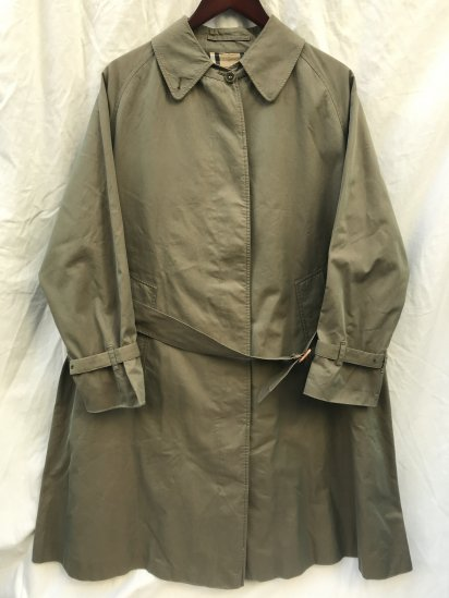 70-80's Vintage Burberrys' Ws Rider Coat 1 Piece Raglan Sleeve Made in ENGLAND with Belt