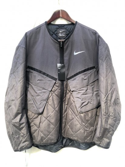 NIKE RUNNING Quilted No Collar Jacket
