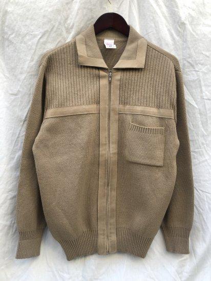 70-80's Vintage St.Michael Zip Up Knit Jacket Made in U.K Beige