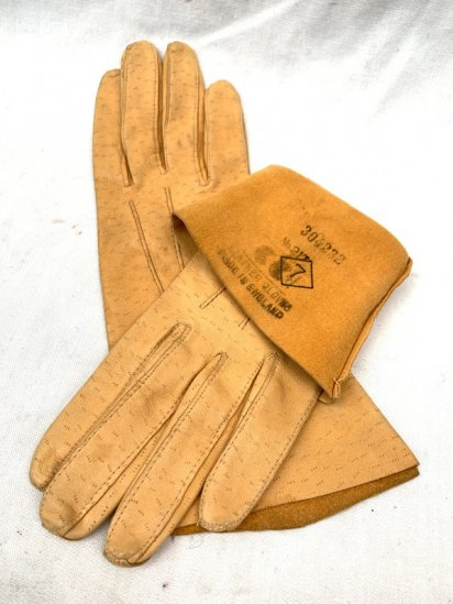 40's Vintage Dead Stock CC41 Peccary Gloves