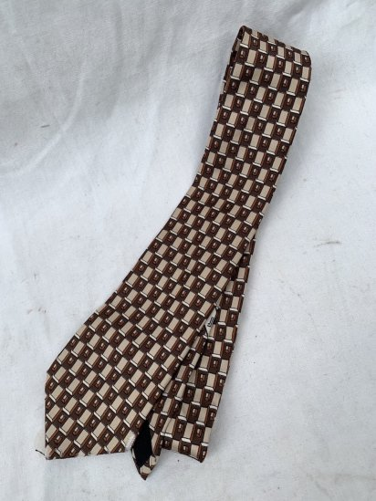 80s ~ 90s Vintage LANVIN Silk Neck Tie Made In France