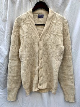 70's ~ Vintage Pendleton Cable Knit Cardigan Made in USA