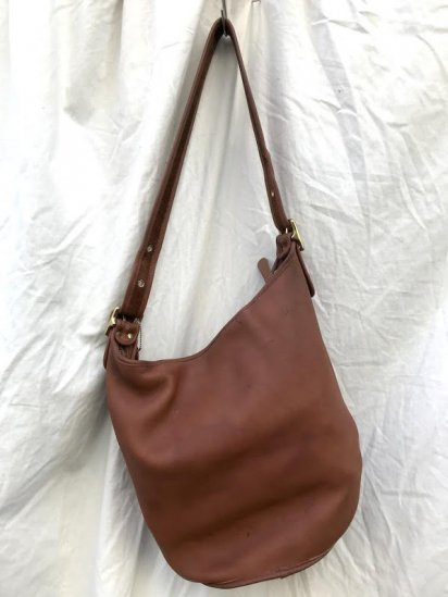 Vintage Old COACH Leather Bag MADE IN U.S.A Tan / 2