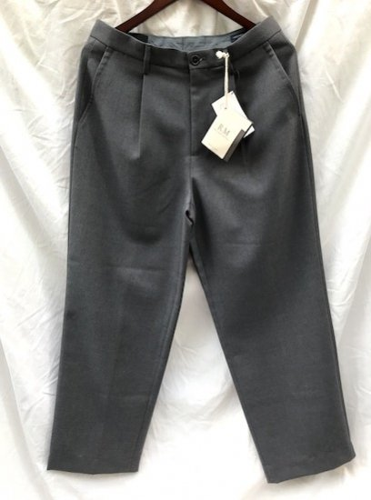 RICCARDO METHA Marzotto Fabric Wool 1Tac Trousers Made in Italy Gray