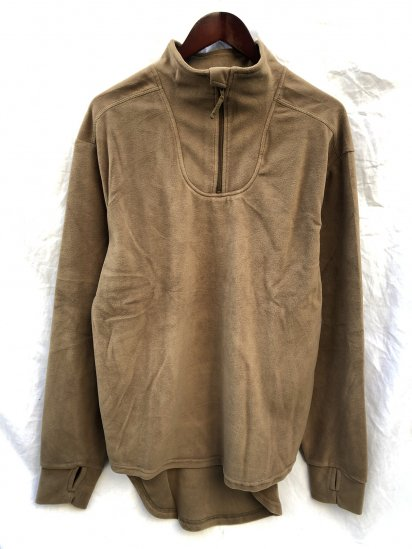 Dead Stock British Army PCS Half Zip Thermal Fleece Shirts Olive