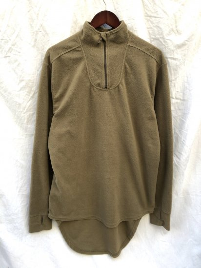 USED British Army PCS Half Zip Thermal Fleece Shirts Olive