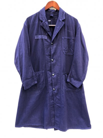 70-80's Vintage British Army Overall Coat Navy Over Dyed
