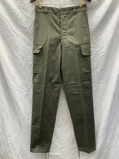 70's Vintage Dead Stock French Army M64 Cargo Pants