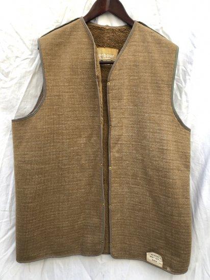 1 Crest Vintage Barbour A295 Pile Lining Made in England for Gamefair , Border (SIZE : 42)