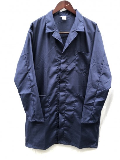 Massaua P/C Poplin Work Coat Made in Italy  Navy