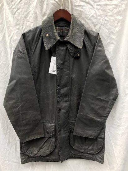 "3 Crest Vintage Barbour""Beaufort"" Jacket Made in England Navy (SIZE : 36)"