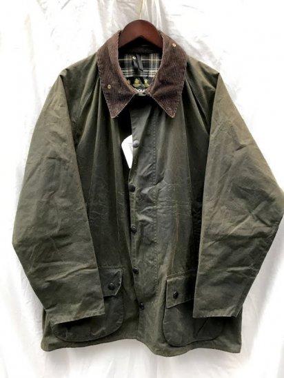 """3 Crest Vintage Barbour""""Beaufort"""" Jacket Made in England Olive (SIZE : 48)"""
