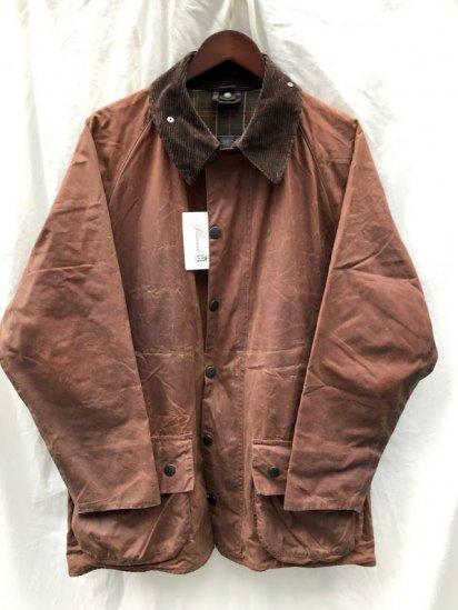 "3 Crest Vintage Barbour""Beaufort"" Jacket Made in England Brown (SIZE : 40)"