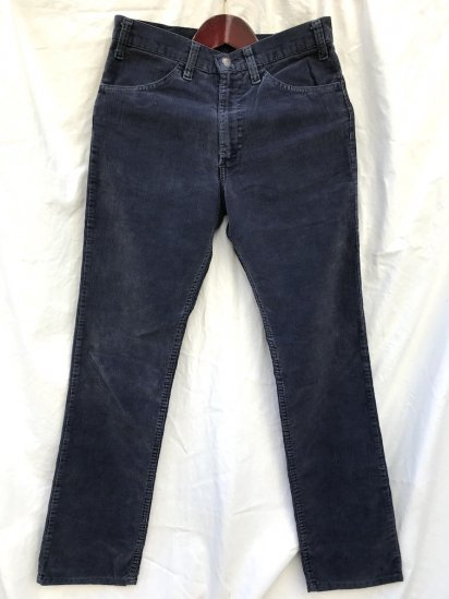 70's~ Vintage LEVI'S 519 Corduroy Pants Made in USA Good Condition Navy (SIZE : 30×31)