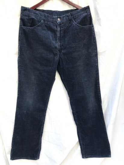 70's~ Vintage LEVI'S 519 Corduroy Pants Made in USA Good Condition Navy (SIZE : 36×30)