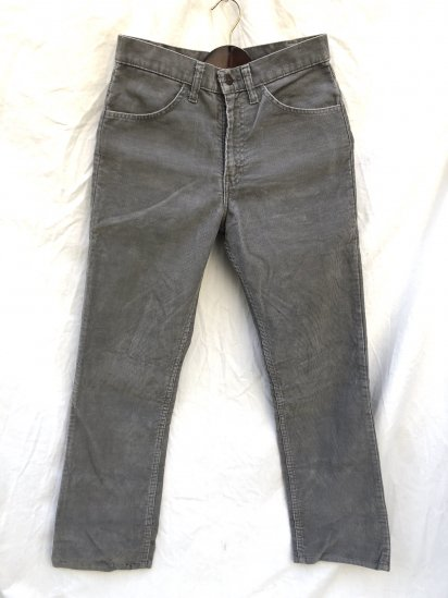 90's Vintage LEVI'S 519 Corduroy Made in USA Gray (SIZE : 30×29)
