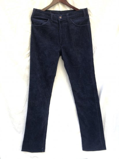 70's~ Vintage LEVI'S 519 Corduroy Made in USA Navy (SIZE : 34×36)
