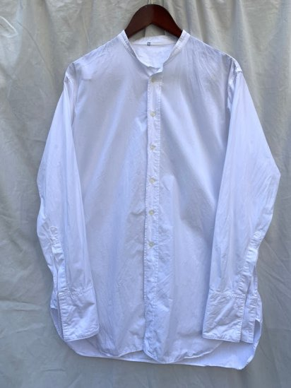 60's vintage Cotton Poplin Band Collar Shirts