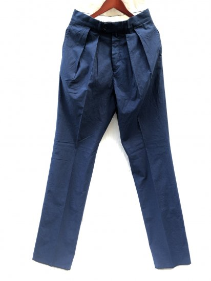 NEAT for S H Excluisve 2 Tuck Trousers Made in Japan Navy
