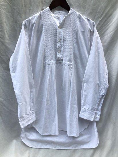 50's ~ Vintage Bosom Pullover Shirts White