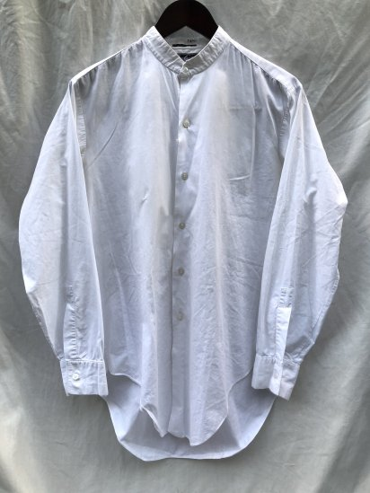 <img class='new_mark_img1' src='https://img.shop-pro.jp/img/new/icons50.gif' style='border:none;display:inline;margin:0px;padding:0px;width:auto;' />60's ~ Vintage EMPAIRE MADE Broad Shirts White
