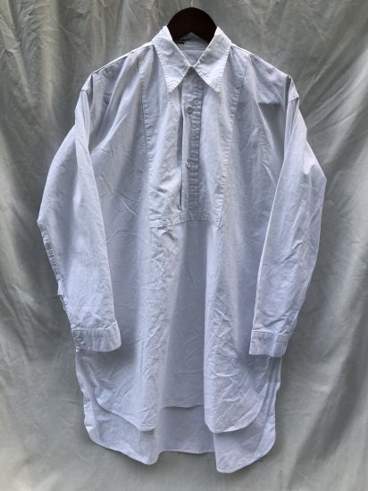 40's ~ Vintage Double Front Pullover Shirts Good Condition White