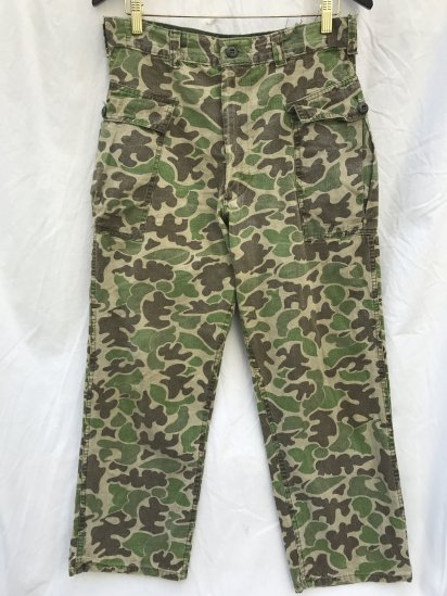 60-70's Vinatage Duck Hunter Camo Cargo Pants