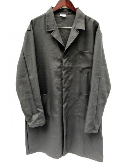Massaua Made in Italy Linen×Viscose Work Coat Made in Italy Black