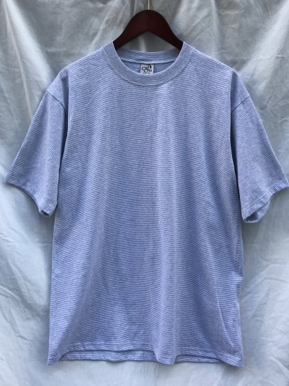CalCru Micro Stripe T Shirts Made in USA Gray