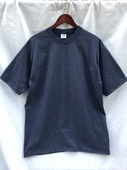 CalCru Micro Stripe T Shirts Made in USA Navy