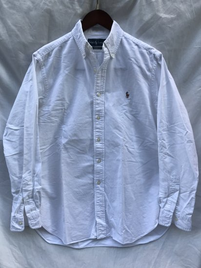 <img class='new_mark_img1' src='https://img.shop-pro.jp/img/new/icons50.gif' style='border:none;display:inline;margin:0px;padding:0px;width:auto;' />90's Old Ralph Lauren Button Down Oxford Shirts