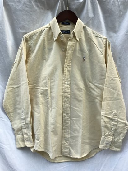 90's Old Ralph Lauren Button Down Oxford Shirts Made in USA Yellow