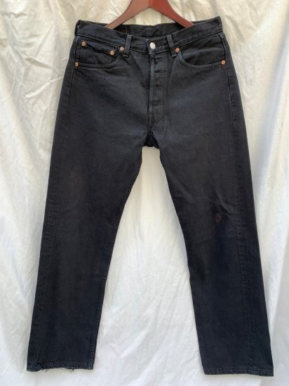<img class='new_mark_img1' src='https://img.shop-pro.jp/img/new/icons50.gif' style='border:none;display:inline;margin:0px;padding:0px;width:auto;' />90's Old Levi's 501 Black Denim Made in U.S.A  (SIZE : 31×29)