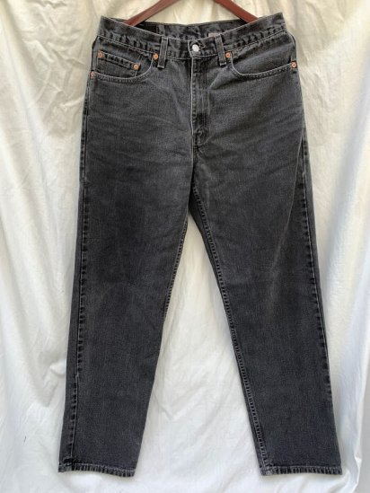 <img class='new_mark_img1' src='https://img.shop-pro.jp/img/new/icons50.gif' style='border:none;display:inline;margin:0px;padding:0px;width:auto;' />90's Old Levi's 550 Black Denim Made in U.S.A (SIZE : 33×31)