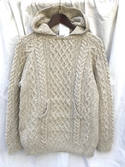 "INVERALLAN "" 1A With Hood & Pocket ""Hand Knit in Scotland"" Cotton & Linen Yarn"" イルミネート別注"