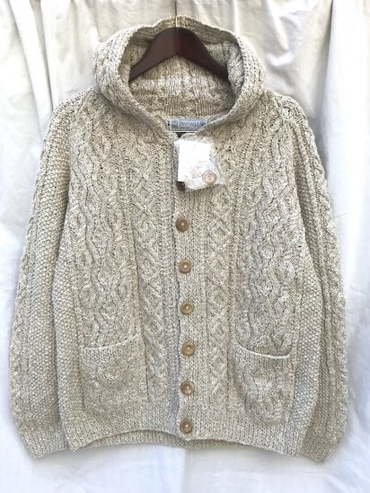 "INVERALLAN ""3A With Hood"" Hand Knit in Scotland ""Cotton & Linen Yarn"" イルミネート別注"