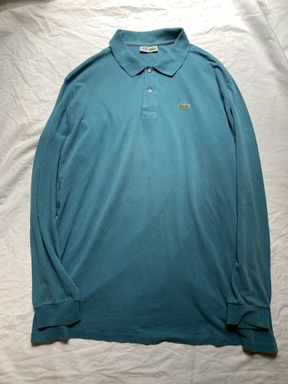 <img class='new_mark_img1' src='https://img.shop-pro.jp/img/new/icons50.gif' style='border:none;display:inline;margin:0px;padding:0px;width:auto;' />80's Vintage  LACOSTE  L/S Polo Shirt Made in France