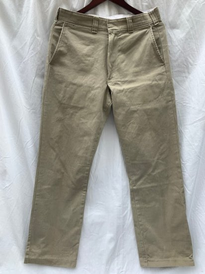 70-80's Vintage Tufnut 100% Cotton Chino Pants Made In USA