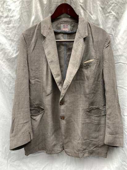 <img class='new_mark_img1' src='https://img.shop-pro.jp/img/new/icons50.gif' style='border:none;display:inline;margin:0px;padding:0px;width:auto;' />40's Vintage Dunn & Co Summer Wool Tropical Jacket