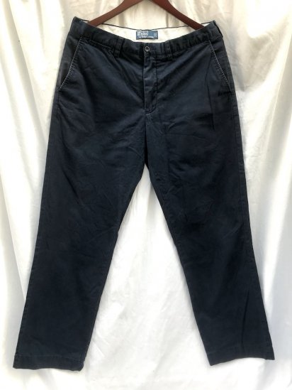"""Old Ralph Lauren Chino Trousers """"Pony on the Waist"""" Navy 34 x 32"""