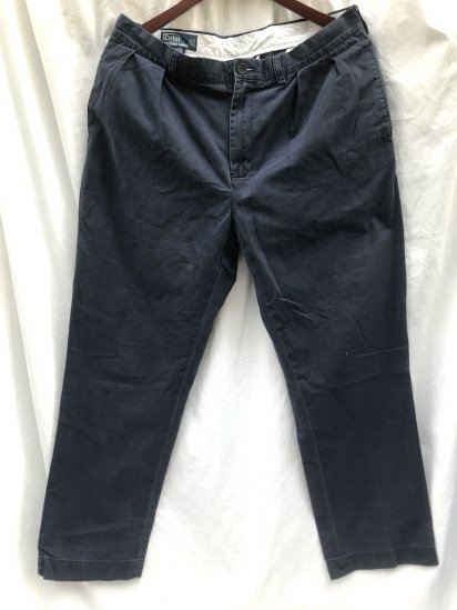 """Old Ralph Lauren Chino Trousers """"Pony on the Waist"""" Navy  36 x 31"""